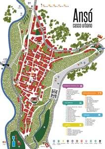 Plano callejero de Ansó
